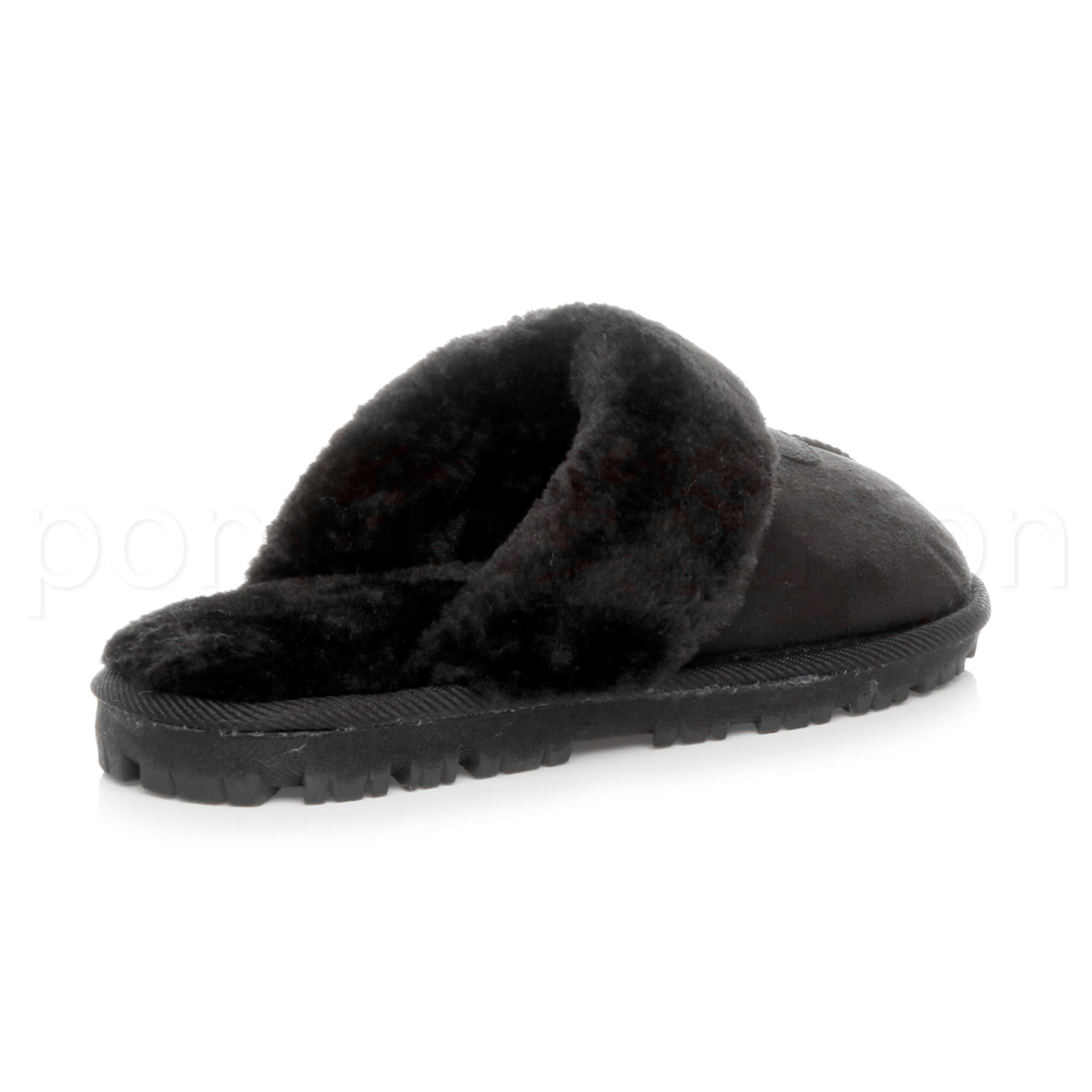 WOMENS-LADIES-FLAT-FUR-LINED-COMFORTABLE-WINTER-MULES-SLIPPERS-HOUSE-SHOES-SIZE thumbnail 19