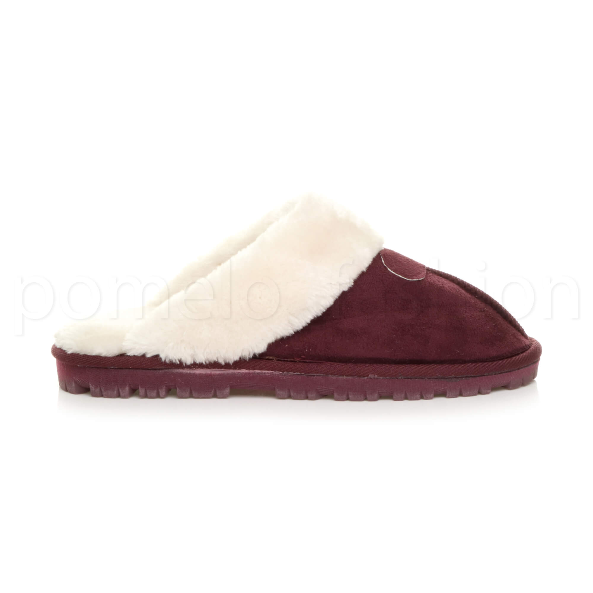 WOMENS-LADIES-FLAT-FUR-LINED-COMFORTABLE-WINTER-MULES-SLIPPERS-HOUSE-SHOES-SIZE thumbnail 38
