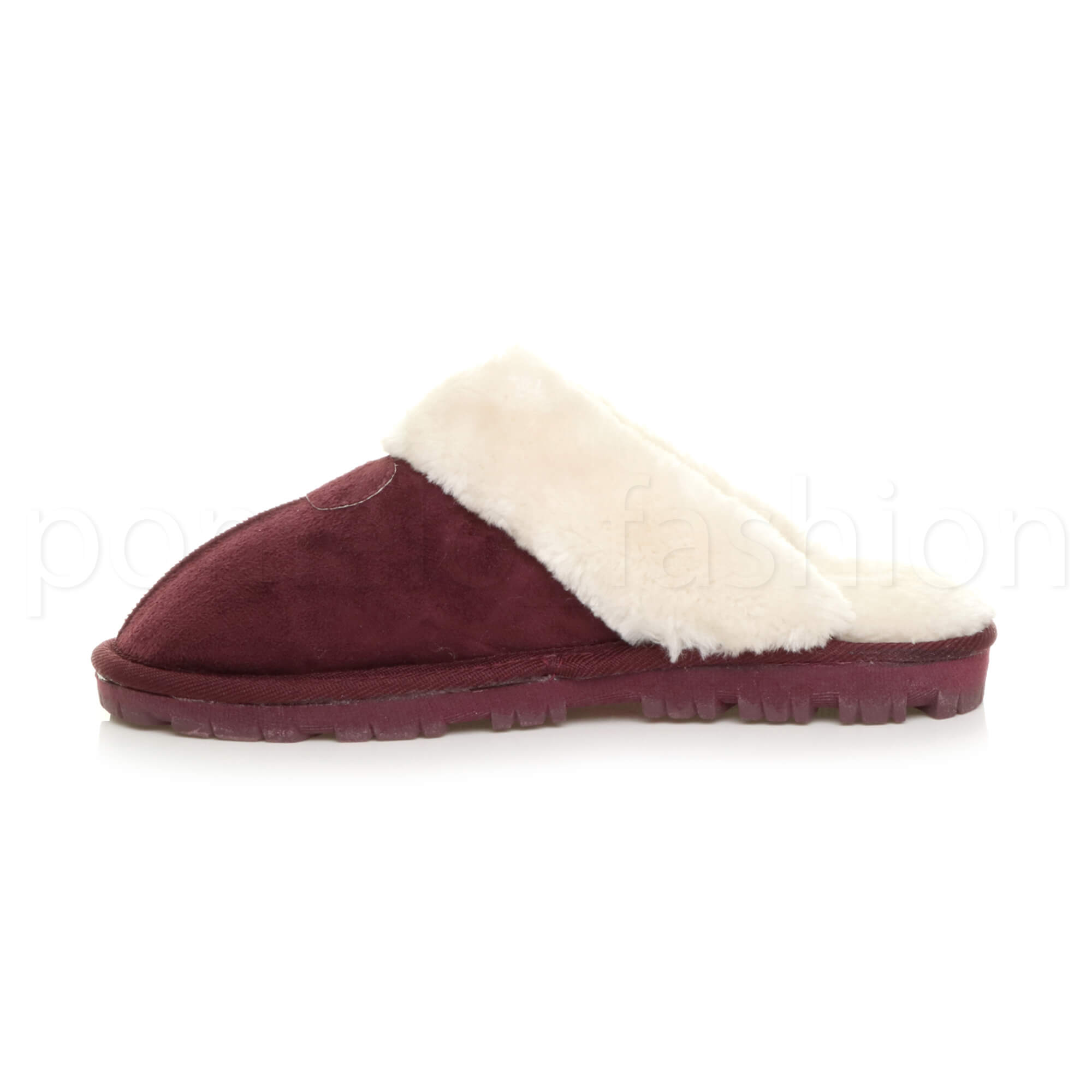 WOMENS-LADIES-FLAT-FUR-LINED-COMFORTABLE-WINTER-MULES-SLIPPERS-HOUSE-SHOES-SIZE thumbnail 39