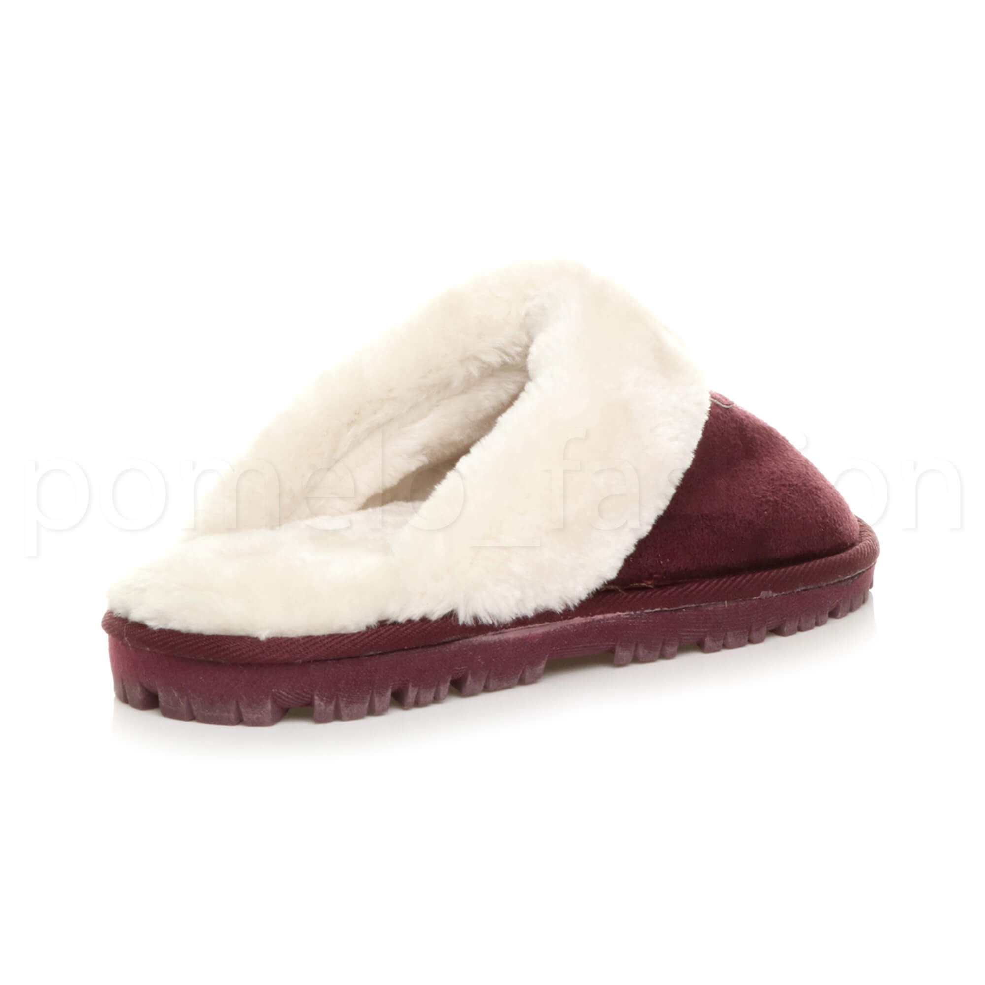 WOMENS-LADIES-FLAT-FUR-LINED-COMFORTABLE-WINTER-MULES-SLIPPERS-HOUSE-SHOES-SIZE thumbnail 40