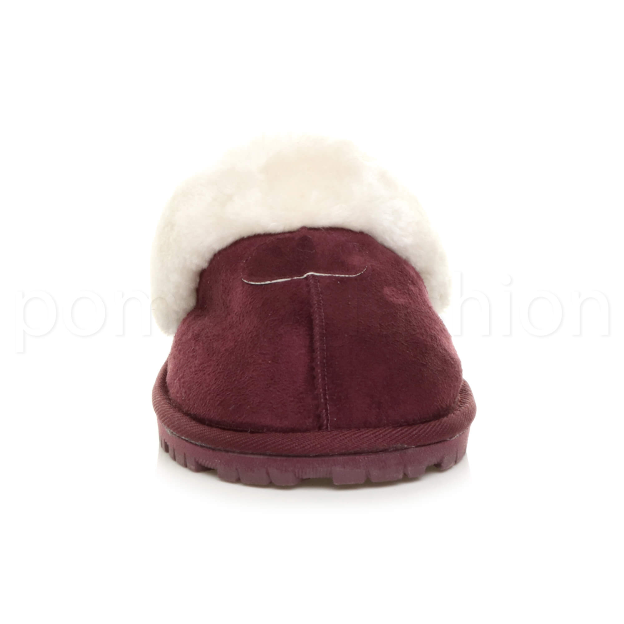 WOMENS-LADIES-FLAT-FUR-LINED-COMFORTABLE-WINTER-MULES-SLIPPERS-HOUSE-SHOES-SIZE thumbnail 42