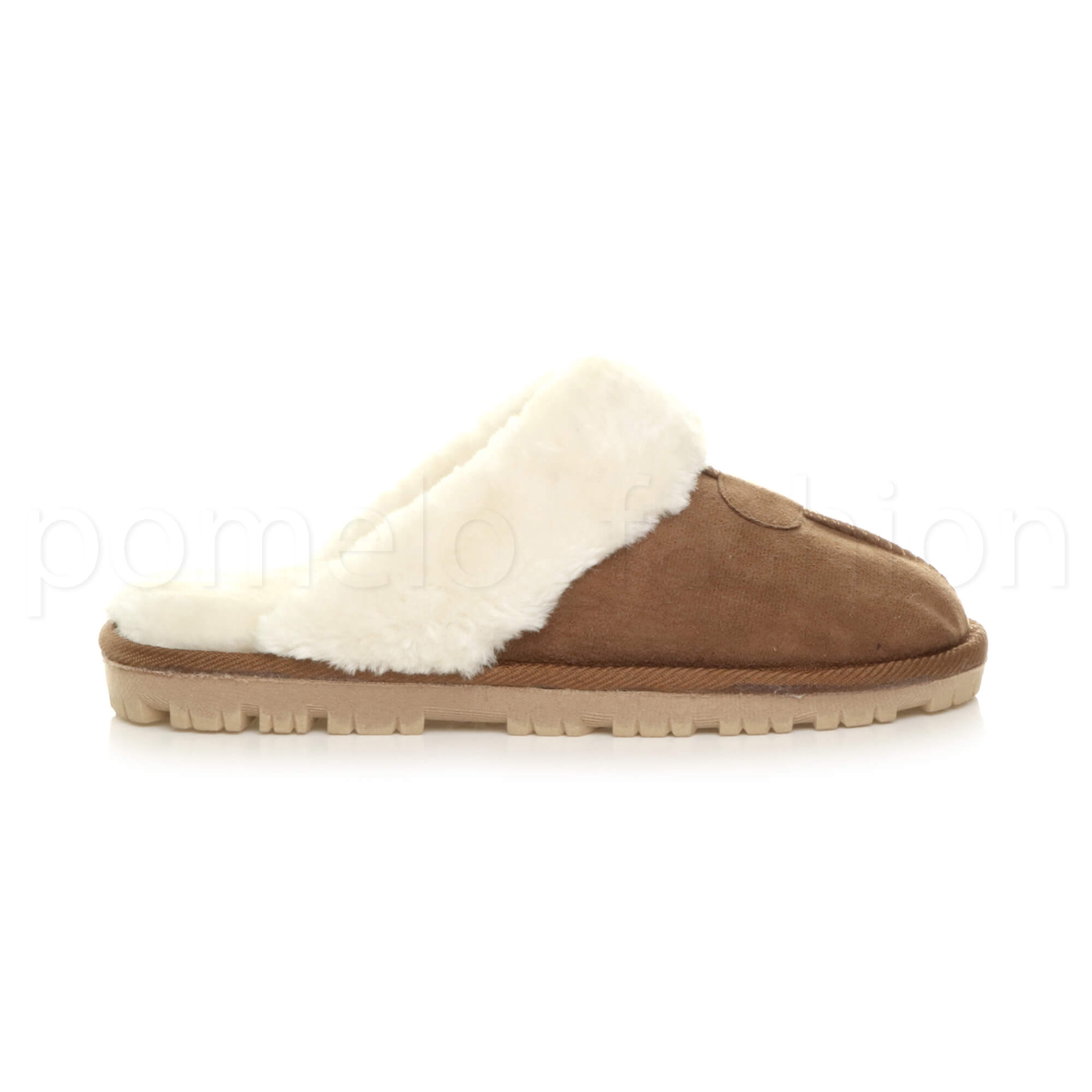 WOMENS-LADIES-FLAT-FUR-LINED-COMFORTABLE-WINTER-MULES-SLIPPERS-HOUSE-SHOES-SIZE thumbnail 45