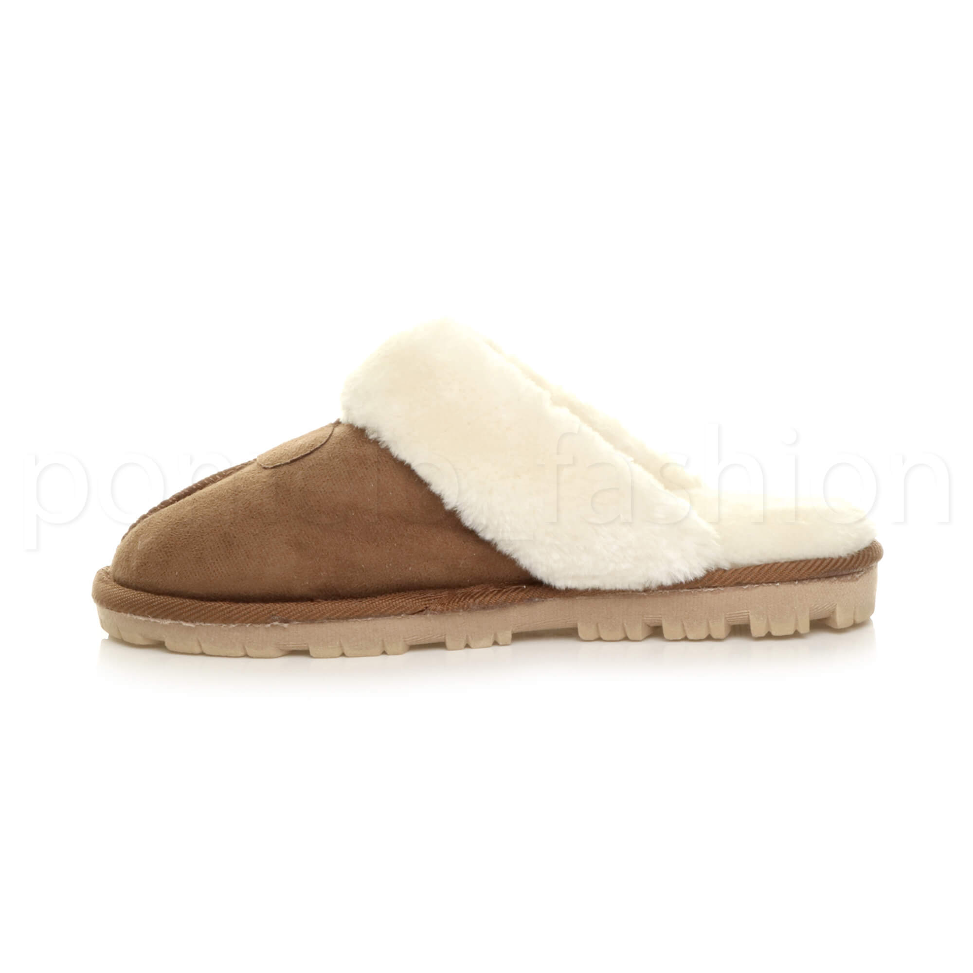 WOMENS-LADIES-FLAT-FUR-LINED-COMFORTABLE-WINTER-MULES-SLIPPERS-HOUSE-SHOES-SIZE thumbnail 46