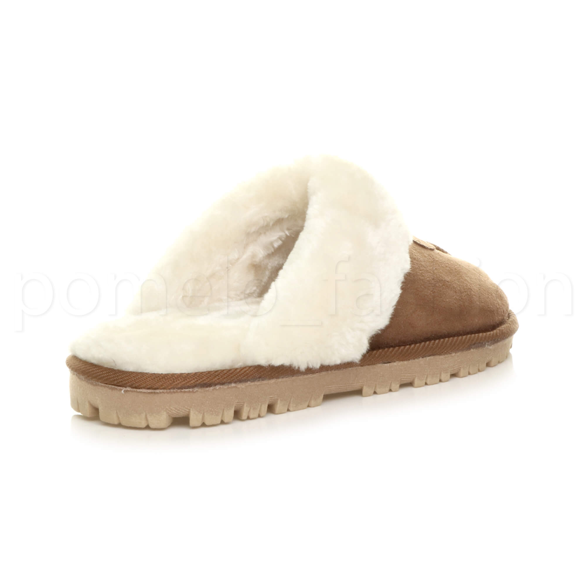 WOMENS-LADIES-FLAT-FUR-LINED-COMFORTABLE-WINTER-MULES-SLIPPERS-HOUSE-SHOES-SIZE thumbnail 47