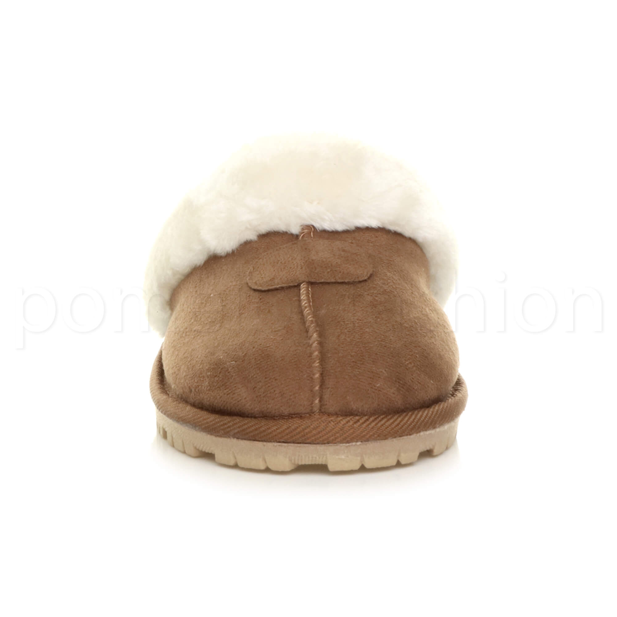 WOMENS-LADIES-FLAT-FUR-LINED-COMFORTABLE-WINTER-MULES-SLIPPERS-HOUSE-SHOES-SIZE thumbnail 49