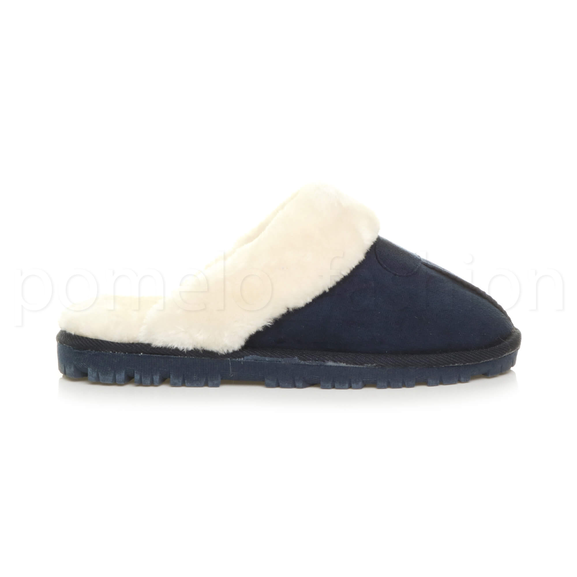 WOMENS-LADIES-FLAT-FUR-LINED-COMFORTABLE-WINTER-MULES-SLIPPERS-HOUSE-SHOES-SIZE thumbnail 59