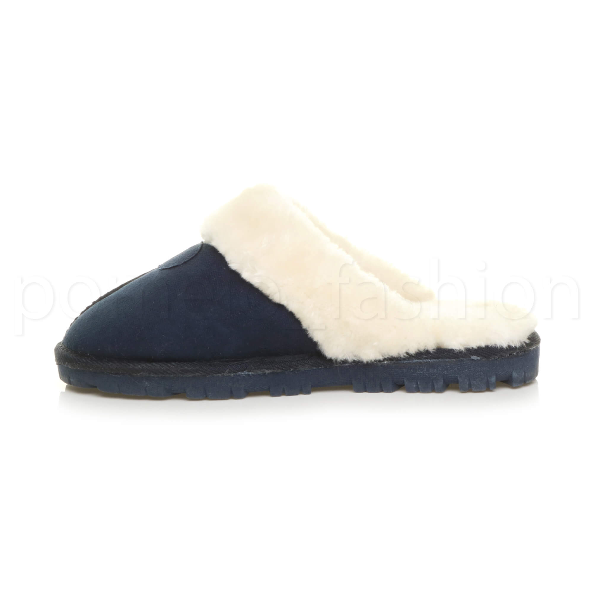 WOMENS-LADIES-FLAT-FUR-LINED-COMFORTABLE-WINTER-MULES-SLIPPERS-HOUSE-SHOES-SIZE thumbnail 60