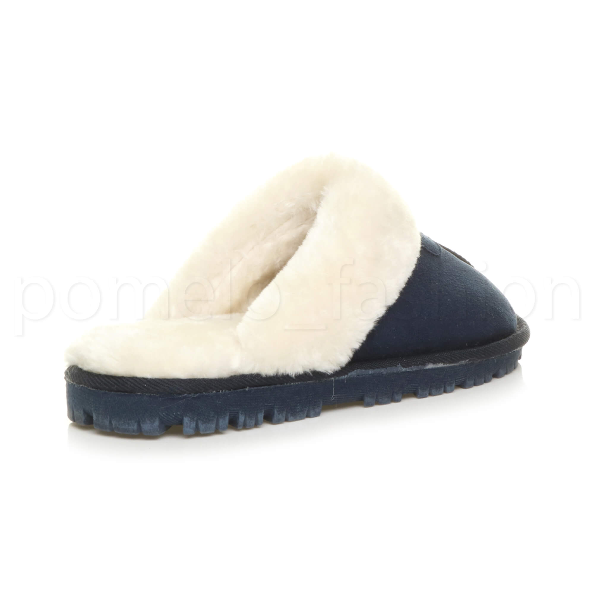 WOMENS-LADIES-FLAT-FUR-LINED-COMFORTABLE-WINTER-MULES-SLIPPERS-HOUSE-SHOES-SIZE thumbnail 61