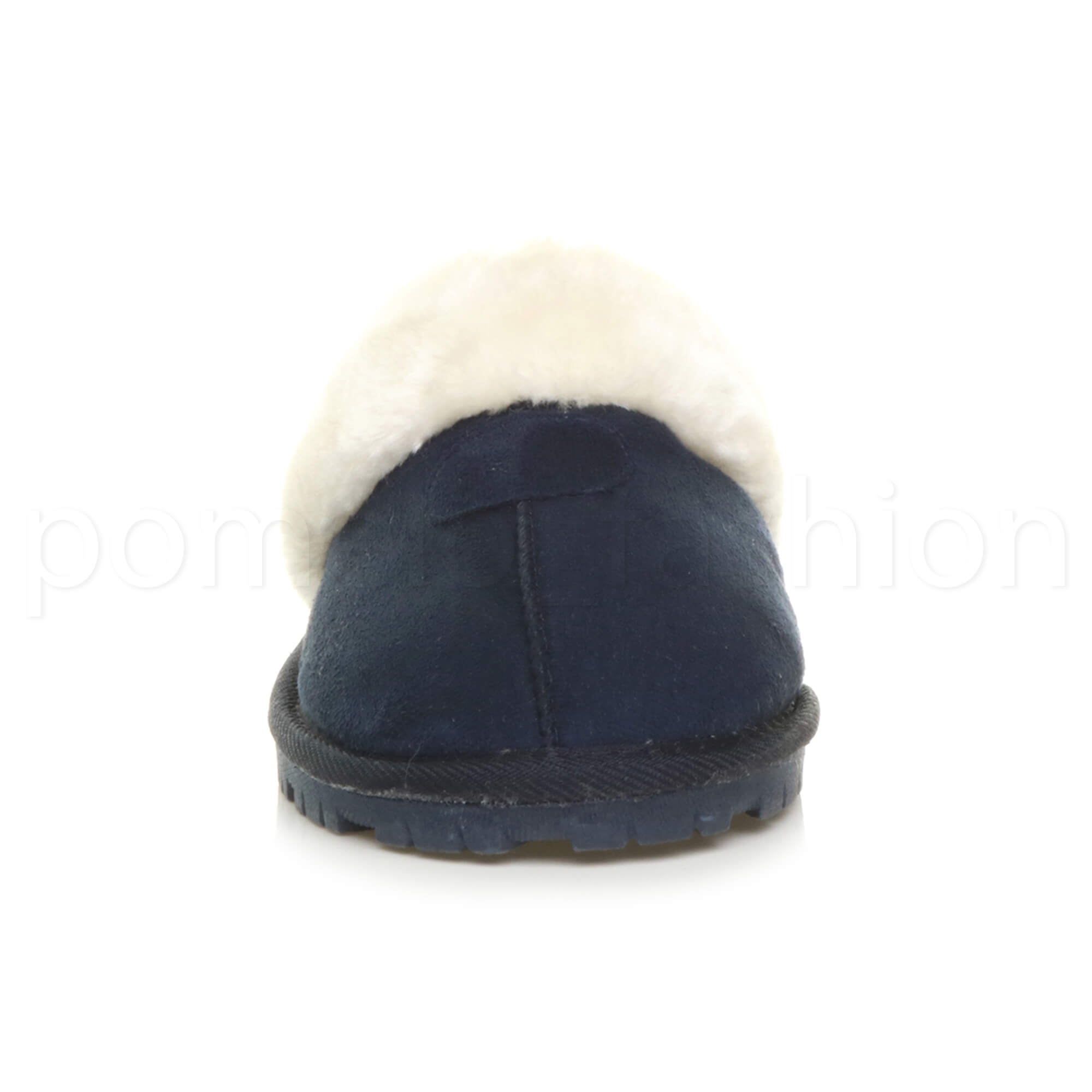 WOMENS-LADIES-FLAT-FUR-LINED-COMFORTABLE-WINTER-MULES-SLIPPERS-HOUSE-SHOES-SIZE thumbnail 63