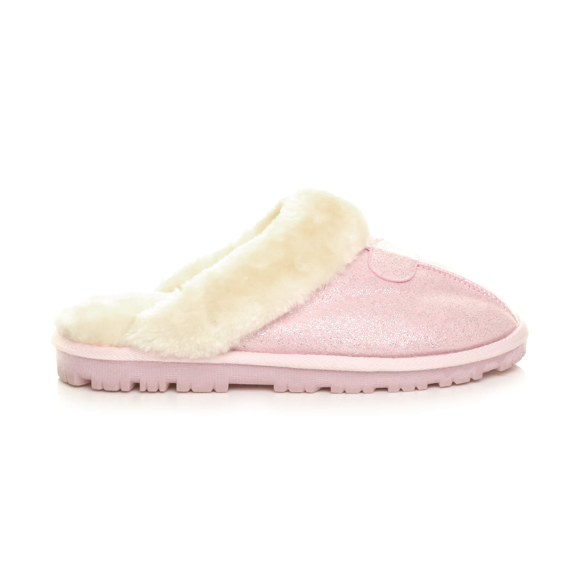WOMENS-LADIES-FLAT-FUR-LINED-COMFORTABLE-WINTER-MULES-SLIPPERS-HOUSE-SHOES-SIZE thumbnail 80