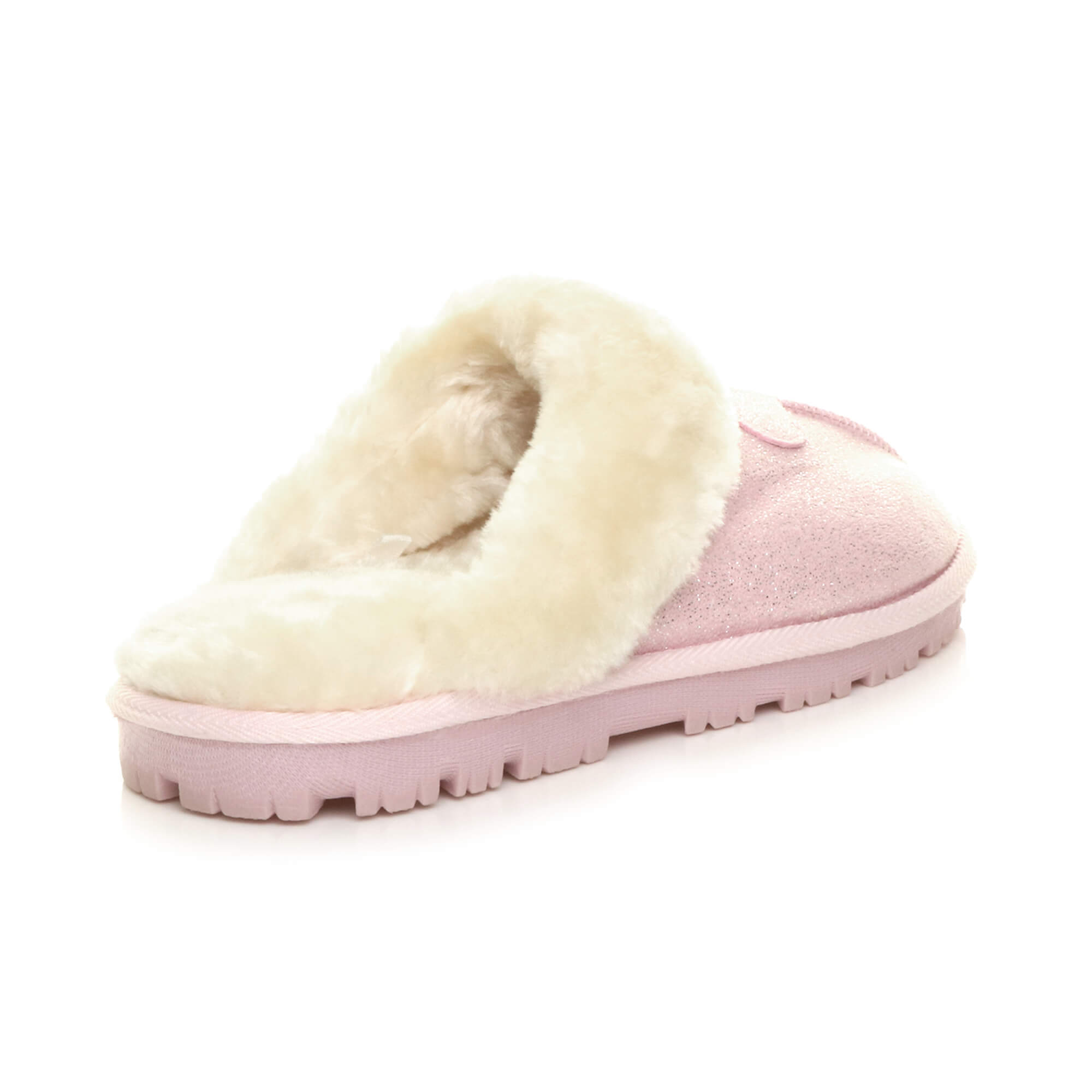 WOMENS-LADIES-FLAT-FUR-LINED-COMFORTABLE-WINTER-MULES-SLIPPERS-HOUSE-SHOES-SIZE thumbnail 82