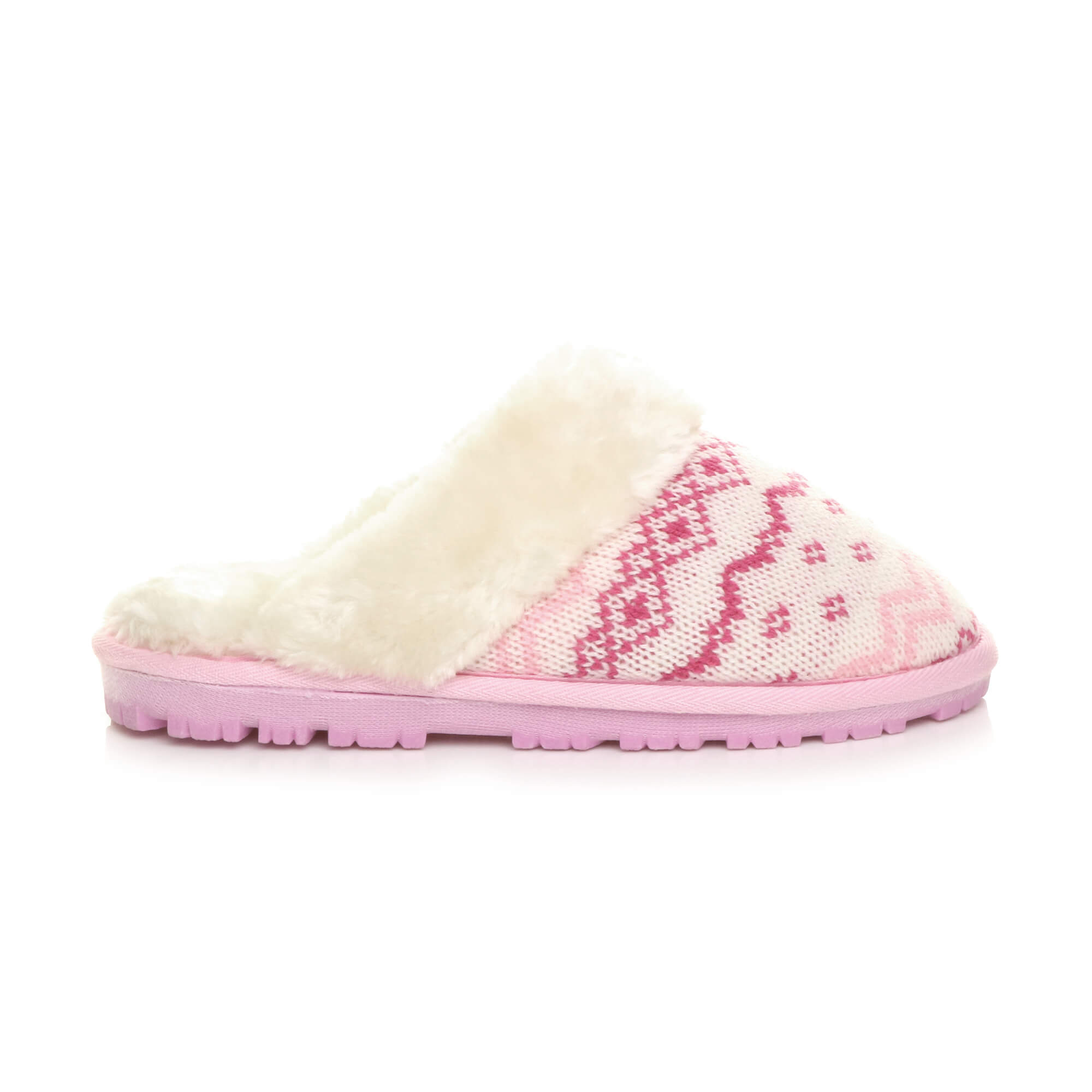 WOMENS-LADIES-FLAT-FUR-LINED-COMFORTABLE-WINTER-MULES-SLIPPERS-HOUSE-SHOES-SIZE thumbnail 73