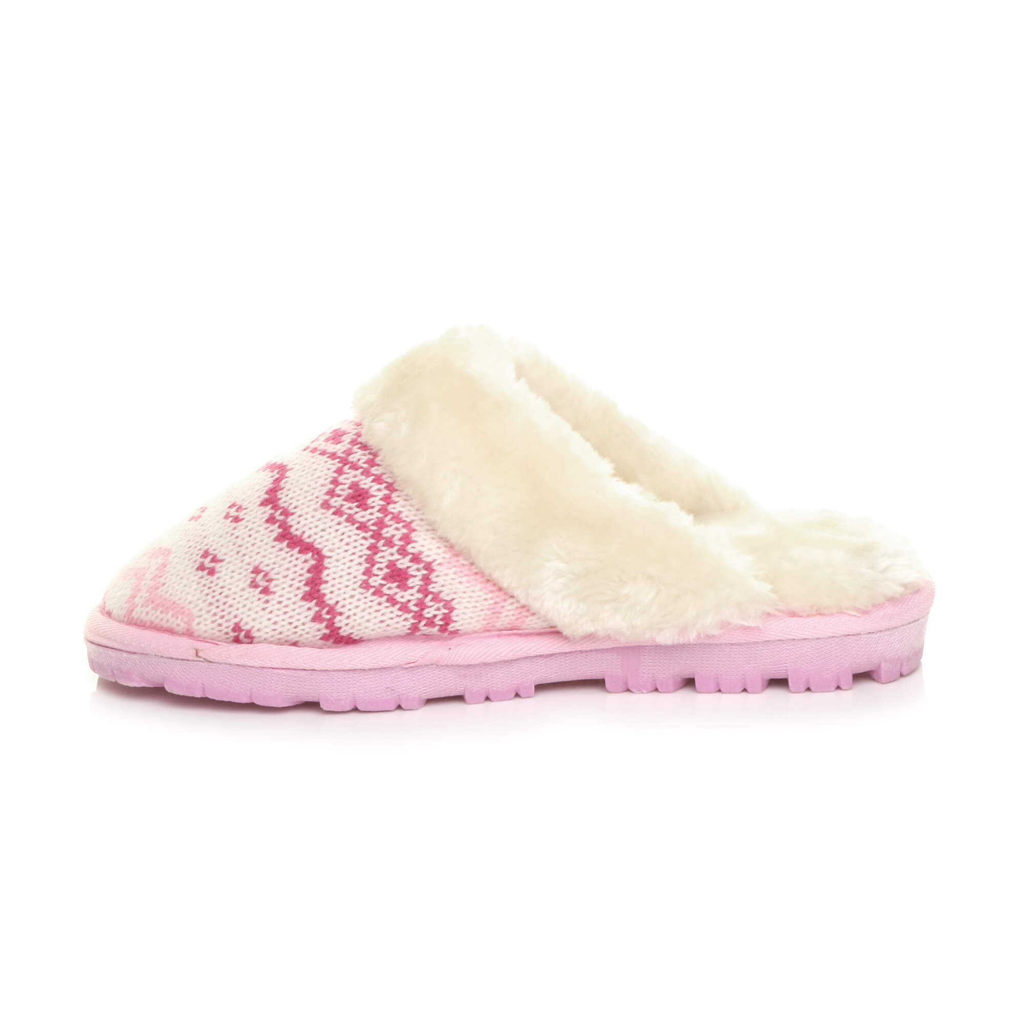 WOMENS-LADIES-FLAT-FUR-LINED-COMFORTABLE-WINTER-MULES-SLIPPERS-HOUSE-SHOES-SIZE thumbnail 74