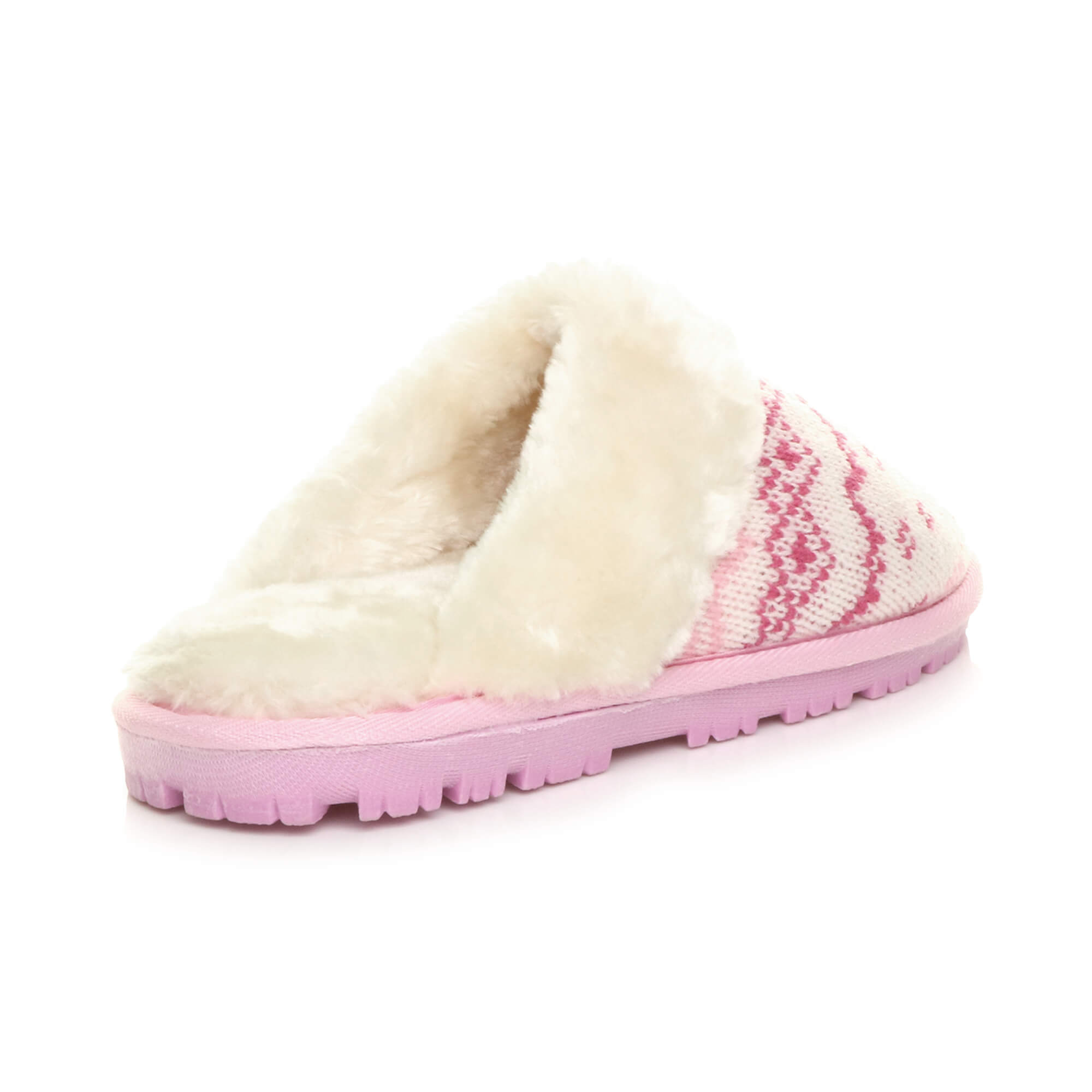WOMENS-LADIES-FLAT-FUR-LINED-COMFORTABLE-WINTER-MULES-SLIPPERS-HOUSE-SHOES-SIZE thumbnail 75