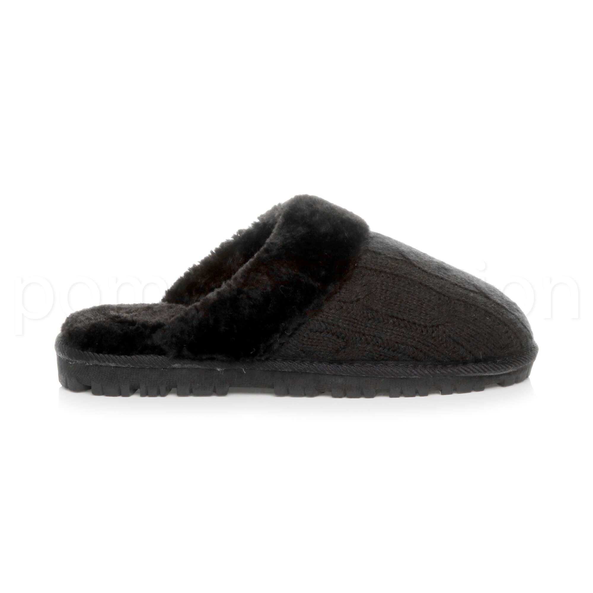 WOMENS-LADIES-FLAT-FUR-LINED-COMFORTABLE-WINTER-MULES-SLIPPERS-HOUSE-SHOES-SIZE thumbnail 31