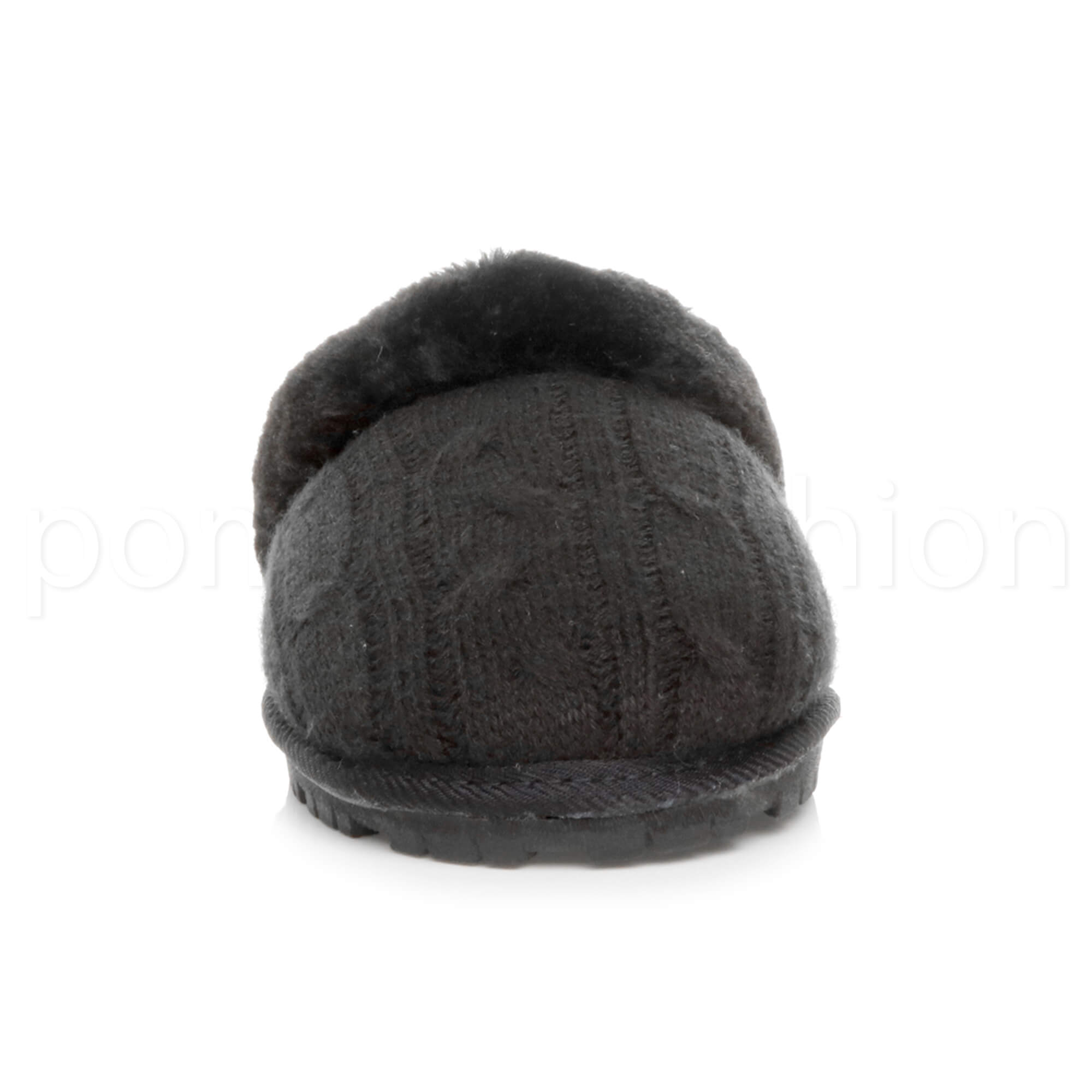 WOMENS-LADIES-FLAT-FUR-LINED-COMFORTABLE-WINTER-MULES-SLIPPERS-HOUSE-SHOES-SIZE thumbnail 35