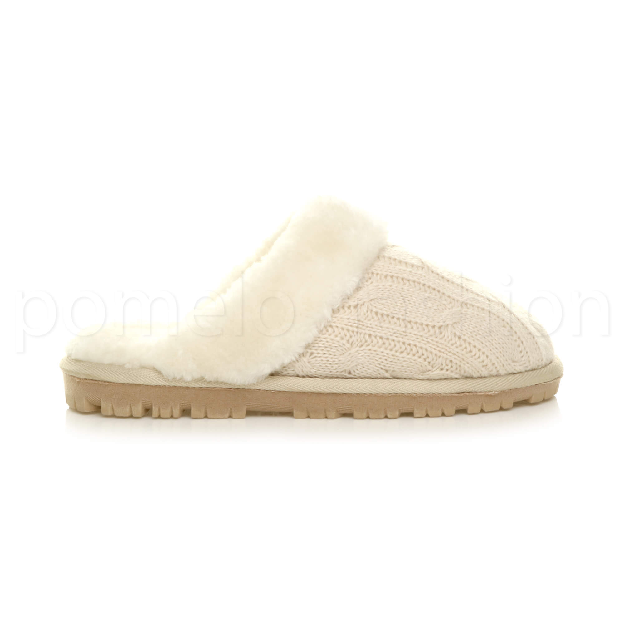 WOMENS-LADIES-FLAT-FUR-LINED-COMFORTABLE-WINTER-MULES-SLIPPERS-HOUSE-SHOES-SIZE thumbnail 10