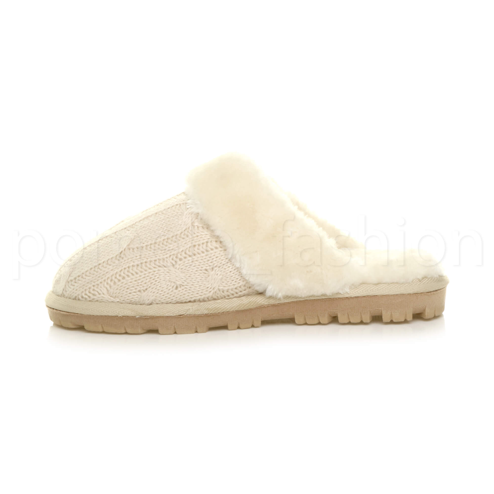 WOMENS-LADIES-FLAT-FUR-LINED-COMFORTABLE-WINTER-MULES-SLIPPERS-HOUSE-SHOES-SIZE thumbnail 11