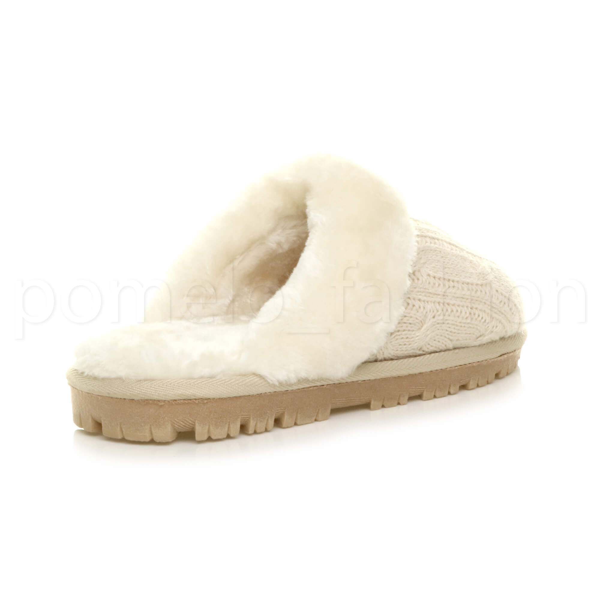 WOMENS-LADIES-FLAT-FUR-LINED-COMFORTABLE-WINTER-MULES-SLIPPERS-HOUSE-SHOES-SIZE thumbnail 12