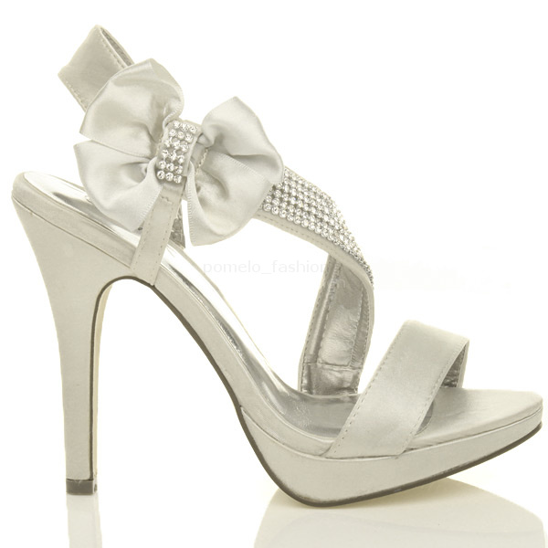 1b4228637ff6 ... Wedding Evening Prom High Heel Platform Sandals Bridal Shoes Size UK 8    EU 41 Silver. About this product. Picture 1 of 7  Picture 2 of 7  Picture  3 of ...