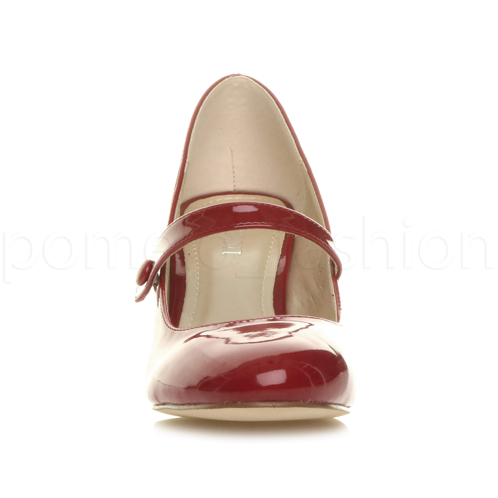 miniatura 48 - Donna basso tacco medio Mary Jane Damigella Matrimonio Pompe Scarpe Da Sera Taglia