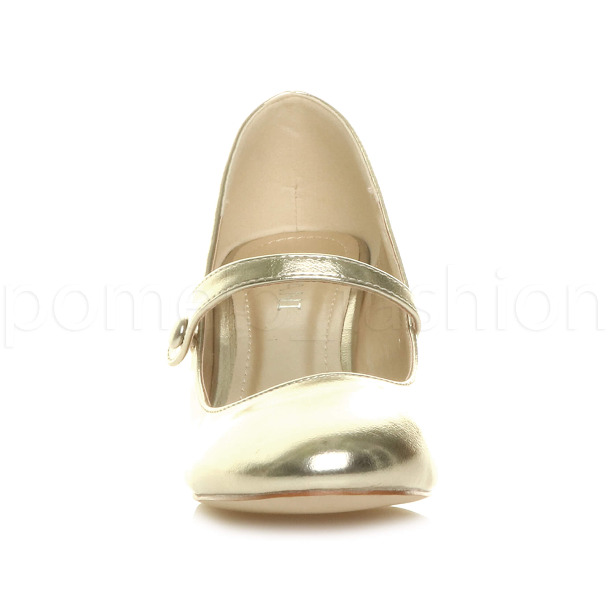 miniatura 69 - Donna basso tacco medio Mary Jane Damigella Matrimonio Pompe Scarpe Da Sera Taglia