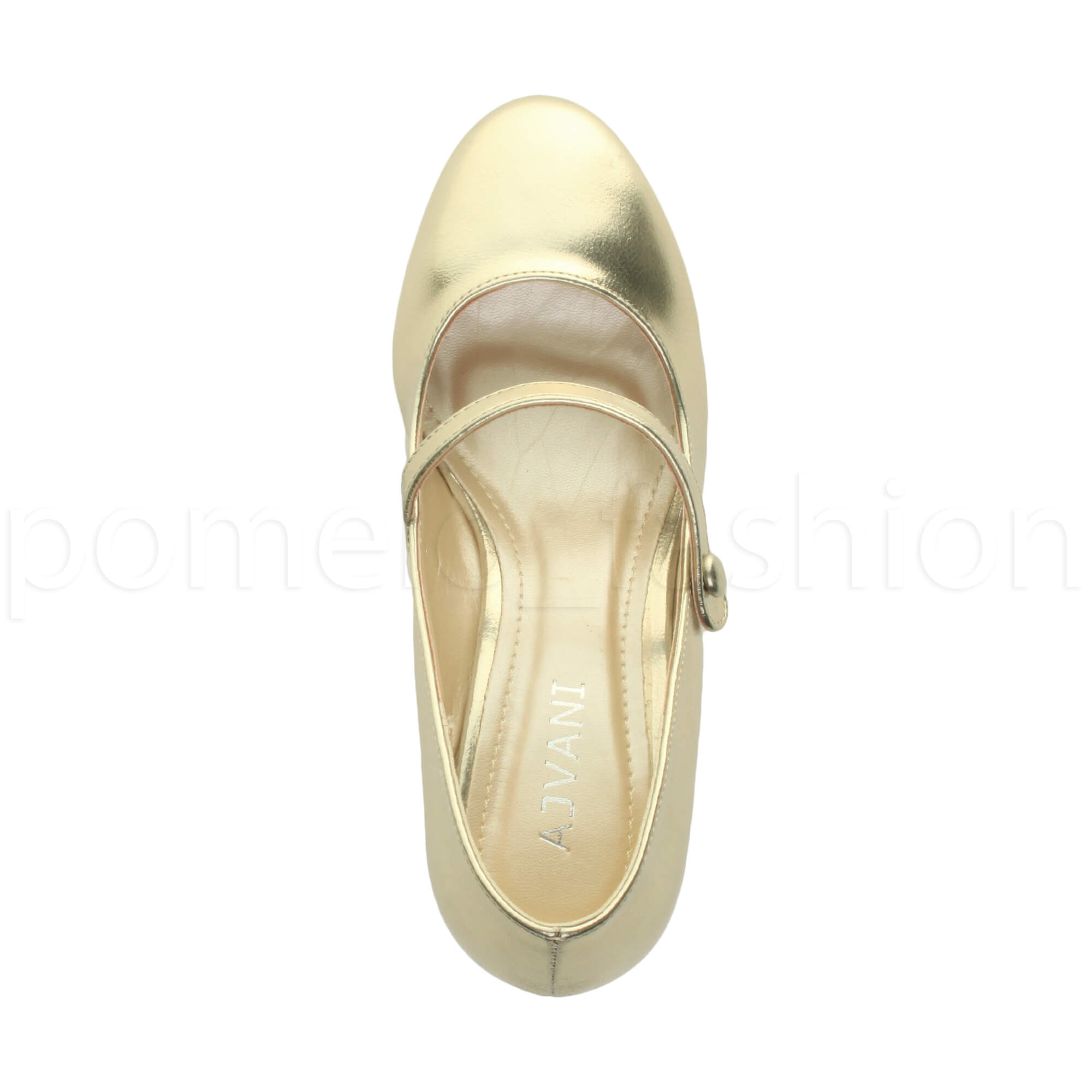 miniatura 70 - Donna basso tacco medio Mary Jane Damigella Matrimonio Pompe Scarpe Da Sera Taglia