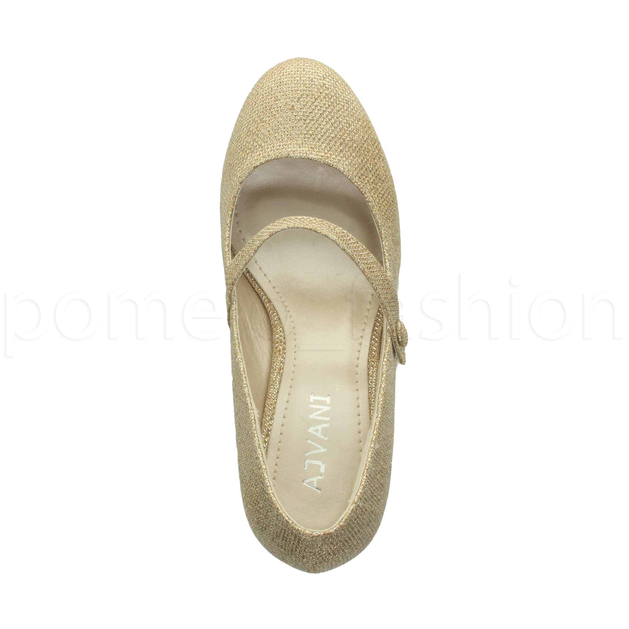 miniatura 77 - Donna basso tacco medio Mary Jane Damigella Matrimonio Pompe Scarpe Da Sera Taglia