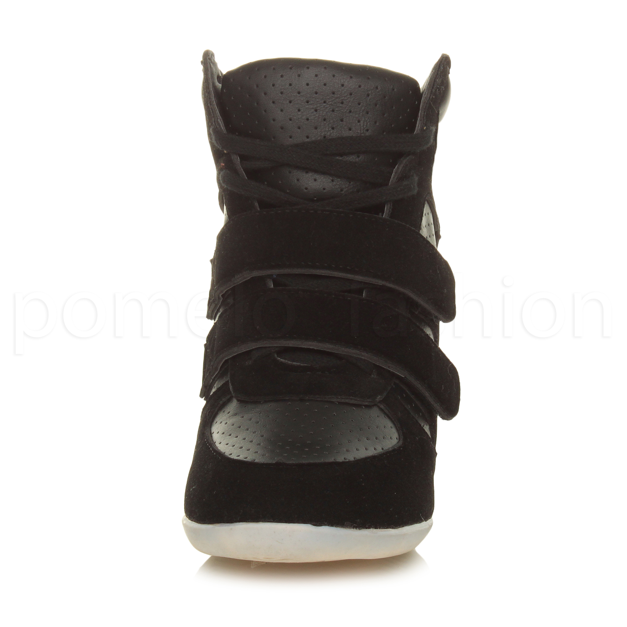 WOMENS-LADIES-HIGH-WEDGE-LACE-UP-HI-HIGH-TOP-TRAINER-ANKLE-SHOE-BOOTS-SIZE