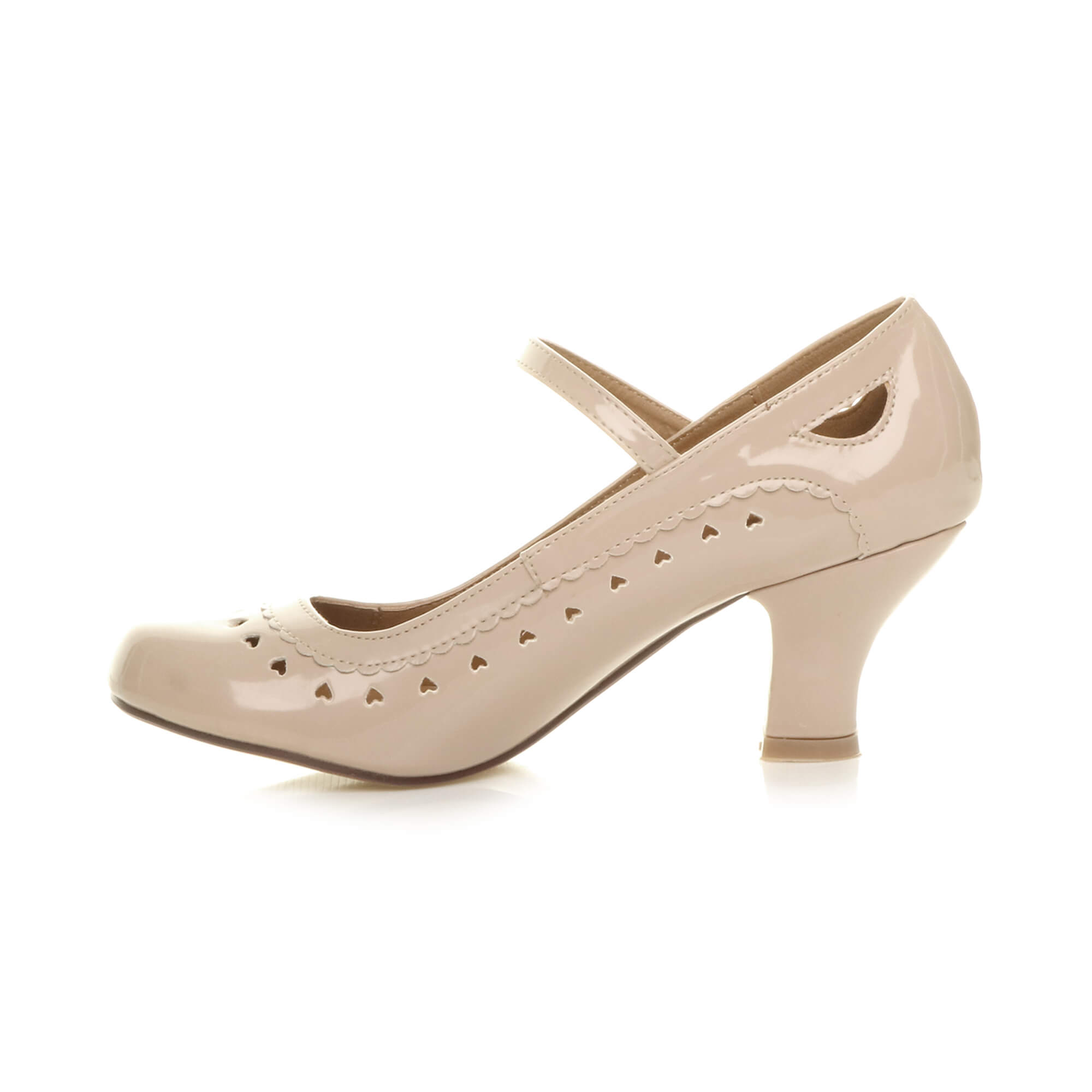 WOMENS-LADIES-MID-HEEL-MARY-JANE-CUT-OUT-HEART-50-039-S-60-039-S-COURT-SHOES-PUMPS-SIZE
