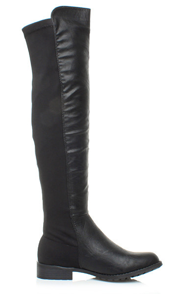 Damenschuhe LADIES HIGH HIGH LADIES OVER THE KNEE STRETCH PULL ON LOW HEEL Stiefel SIZE 5 38 8f2315