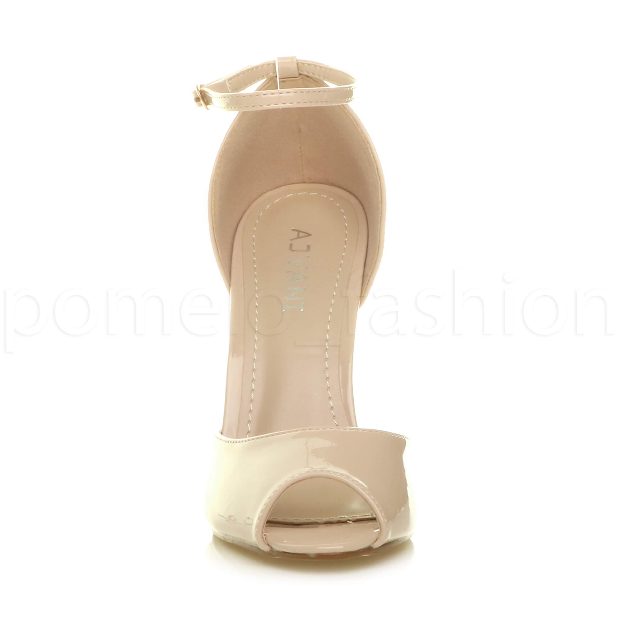 WOMENS-LADIES-HIGH-HEEL-WEDDING-BRIDESMAID-EVENING-STILETTOS-PEEP-TOE-SHOES-SIZE thumbnail 55