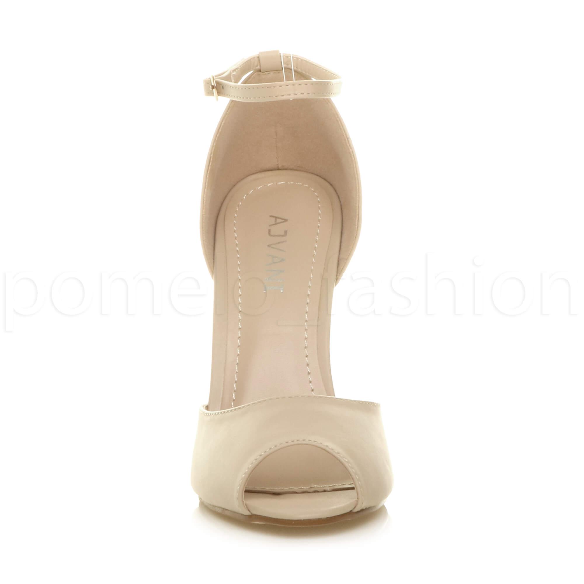 WOMENS-LADIES-HIGH-HEEL-WEDDING-BRIDESMAID-EVENING-STILETTOS-PEEP-TOE-SHOES-SIZE thumbnail 48