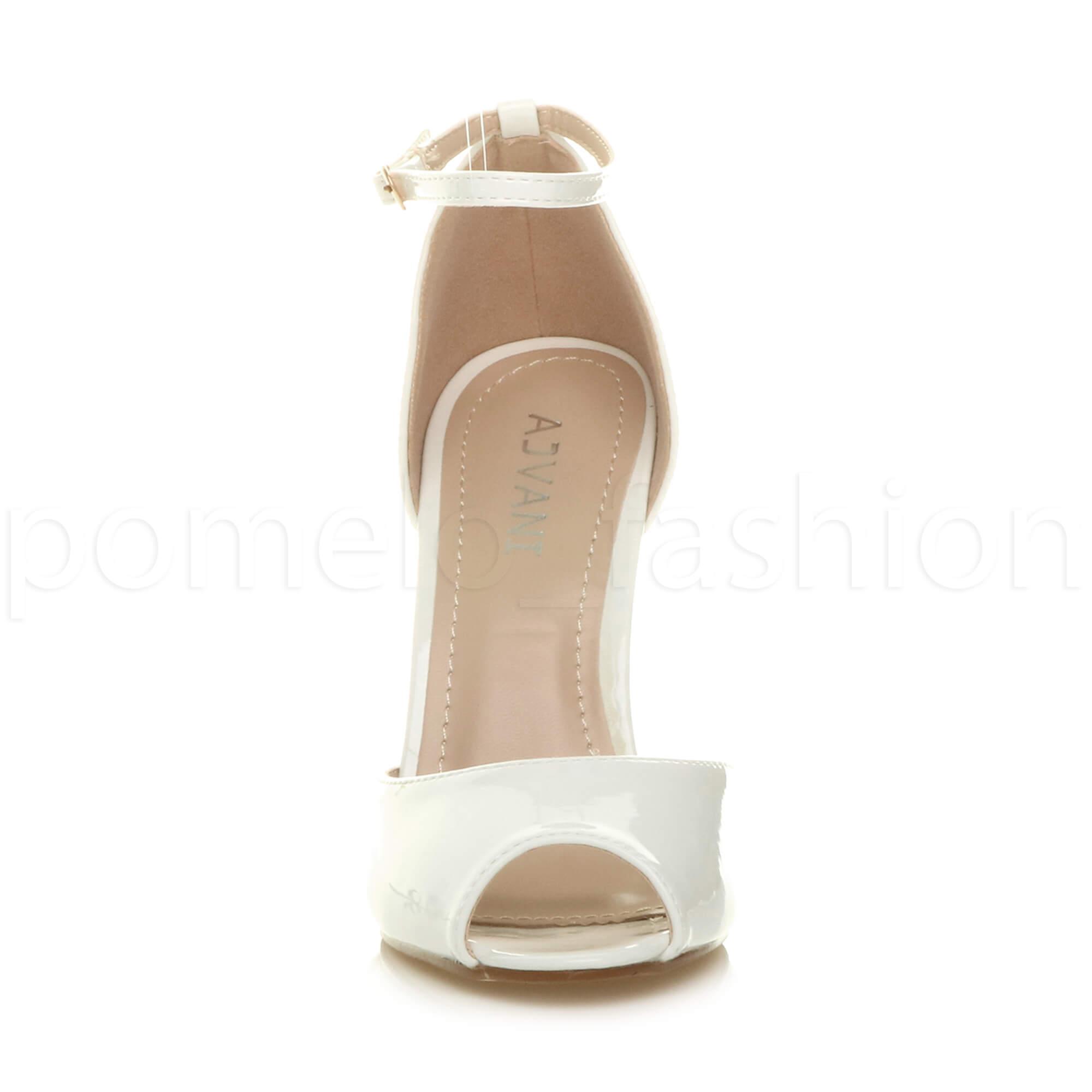WOMENS-LADIES-HIGH-HEEL-WEDDING-BRIDESMAID-EVENING-STILETTOS-PEEP-TOE-SHOES-SIZE thumbnail 90