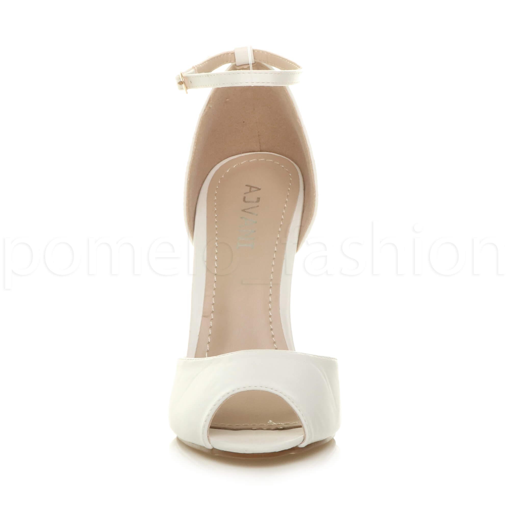 WOMENS-LADIES-HIGH-HEEL-WEDDING-BRIDESMAID-EVENING-STILETTOS-PEEP-TOE-SHOES-SIZE thumbnail 83