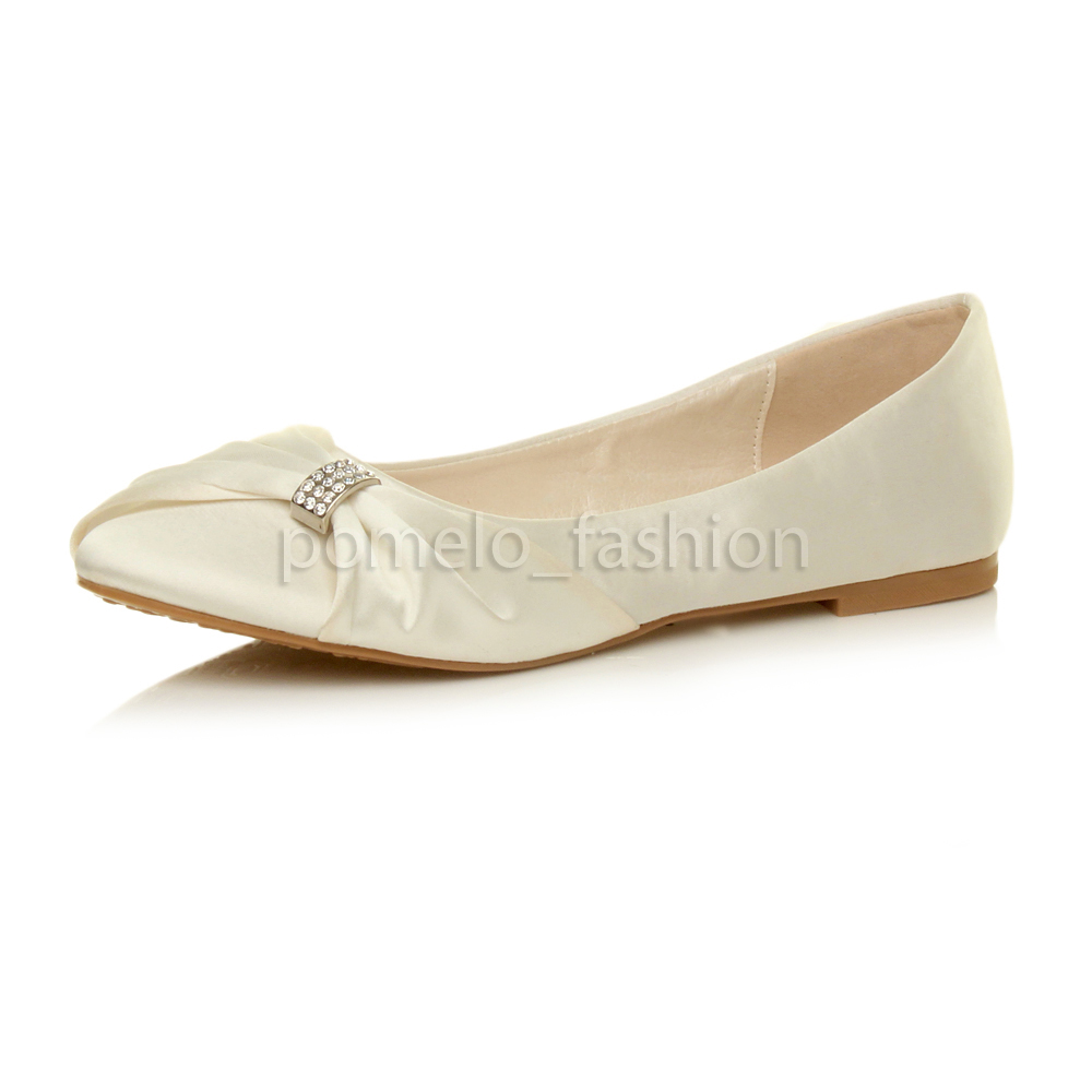 Ivory Ballet Shoes Womens