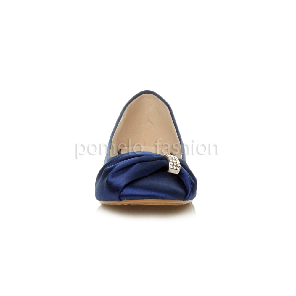 Navy Flat Bridesmaid Shoes