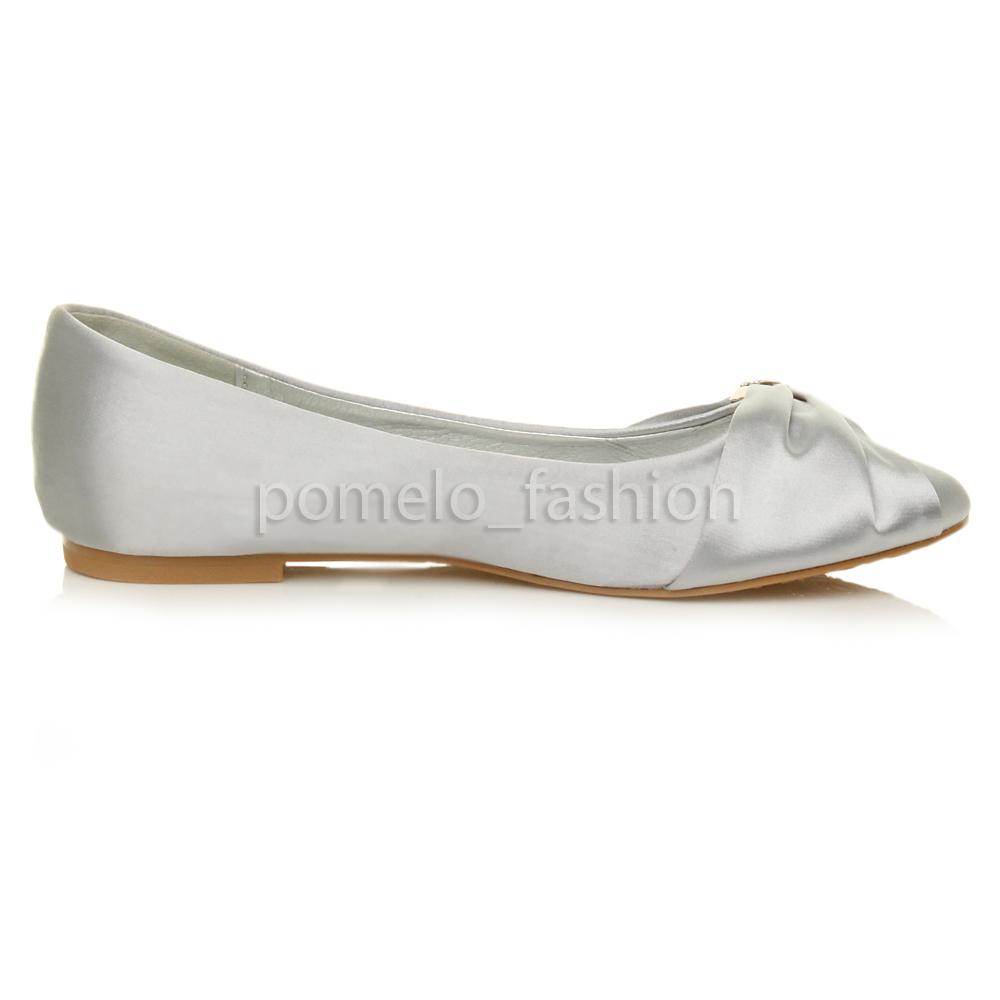 Silver Ballerina Shoes Womens