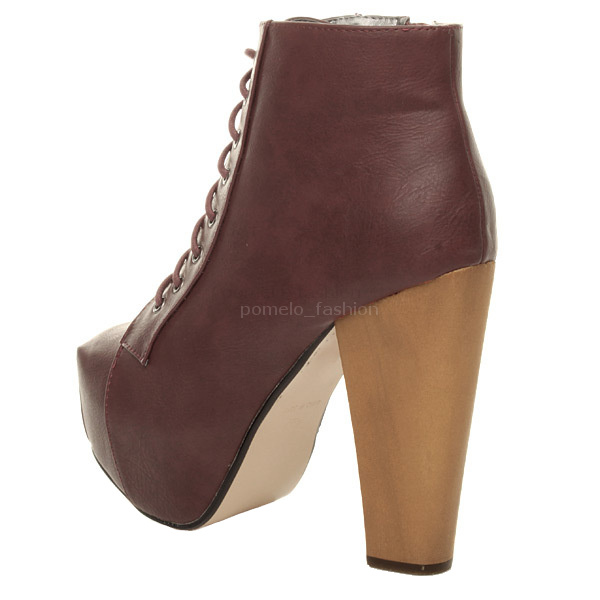 WOMENS-LADIES-LACE-UP-PLATFORM-WOODEN-BLOCK-HEEL-BOOTIES-SHOES-ANKLE-BOOTS-SIZE