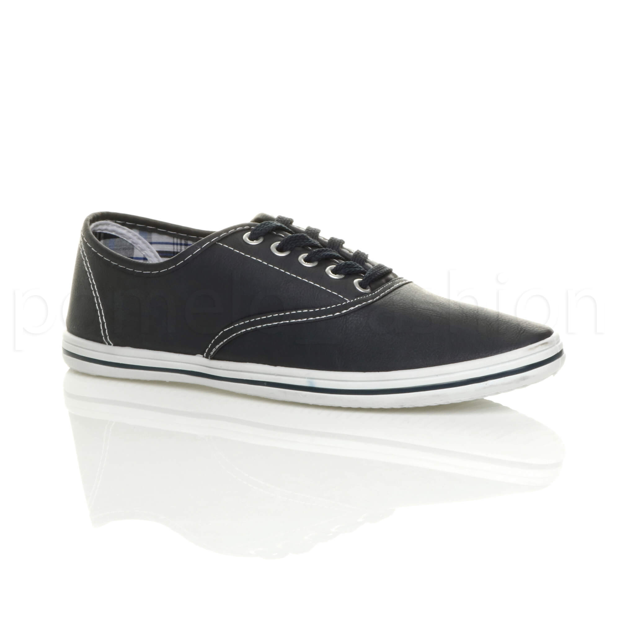 MENS FLAT CASUAL SMART LACE UP TRAINERS