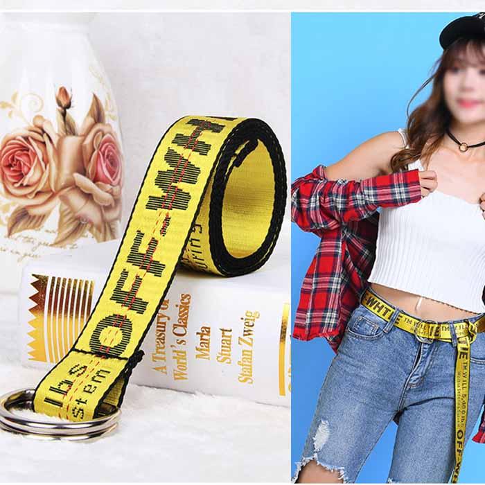 Unisex-Off-White-Yellow-Silver-Belt-Nylon-Vetements-Gosha-Rubchinskiy-140cm Indexbild 7