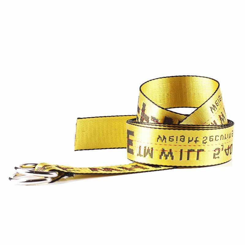 Unisex-Off-White-Yellow-Silver-Belt-Nylon-Vetements-Gosha-Rubchinskiy-140cm Indexbild 8