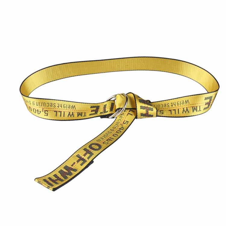 Unisex-Off-White-Yellow-Silver-Belt-Nylon-Vetements-Gosha-Rubchinskiy-140cm Indexbild 9