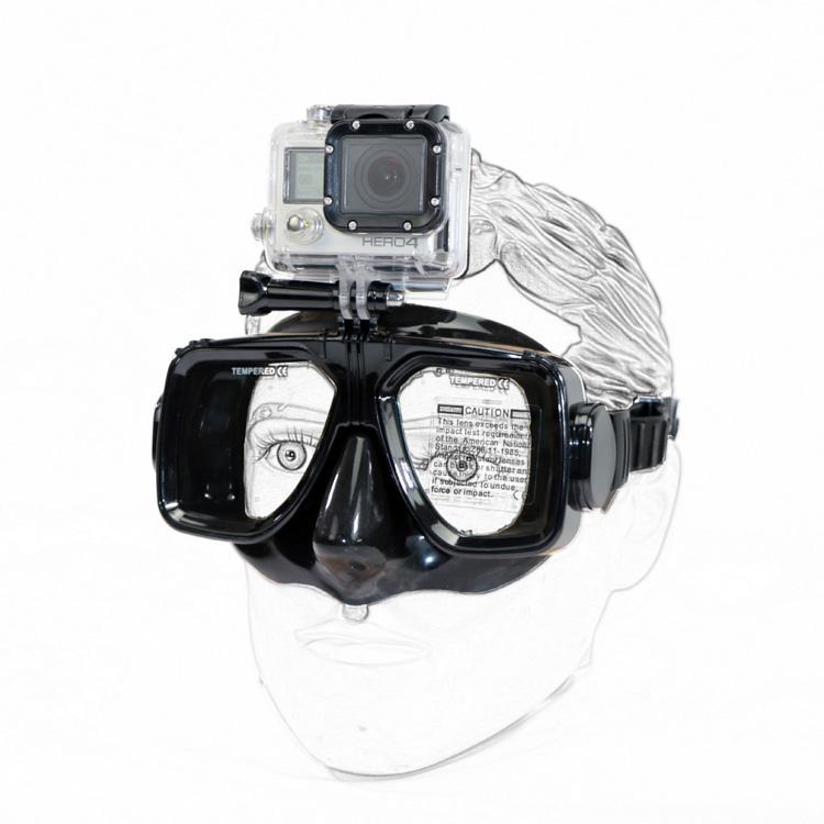 Dive Mask Mount compatible with GoPro cameras Snorkel Mount Scuba Dive Mount