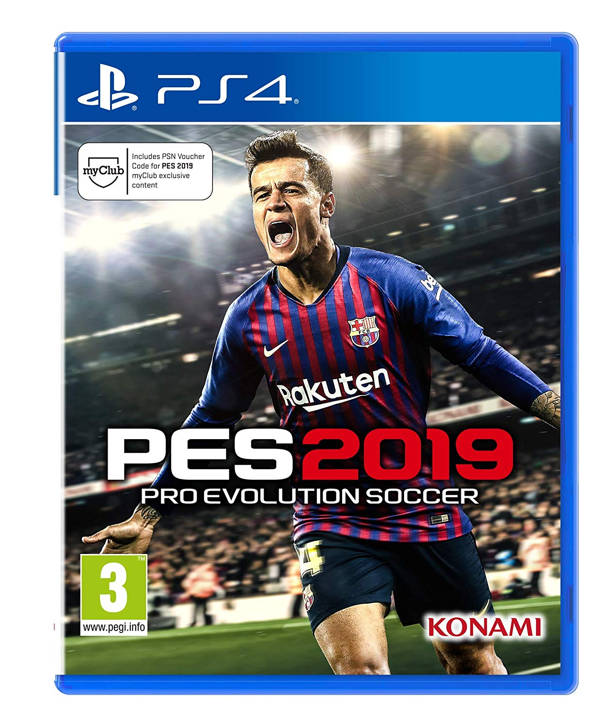 New Sealed Pro Evolution Soccer 2019 Sony Playstation 4 Ps4 Game 2017 Pes