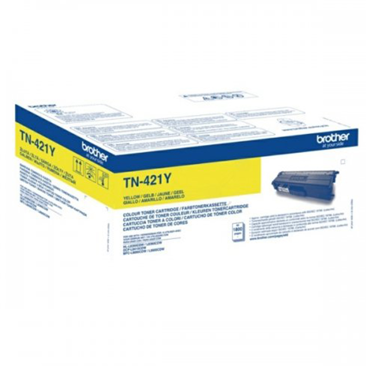 NEW-Brother-TN-421Y-Yellow-Toner