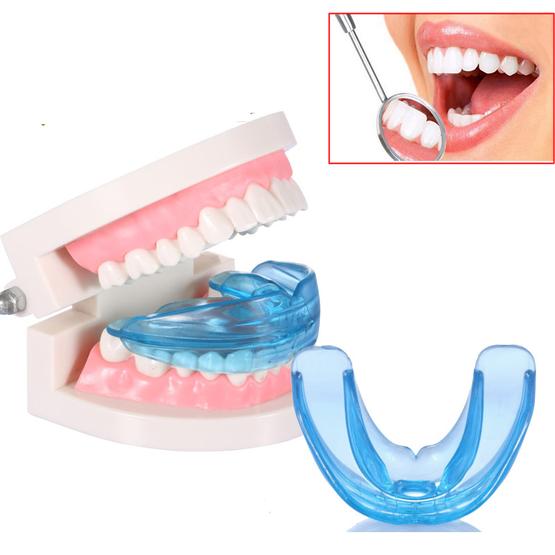 Blue Dental Mouth Guard Bruxism Splint Night Teeth Tooth Grinding