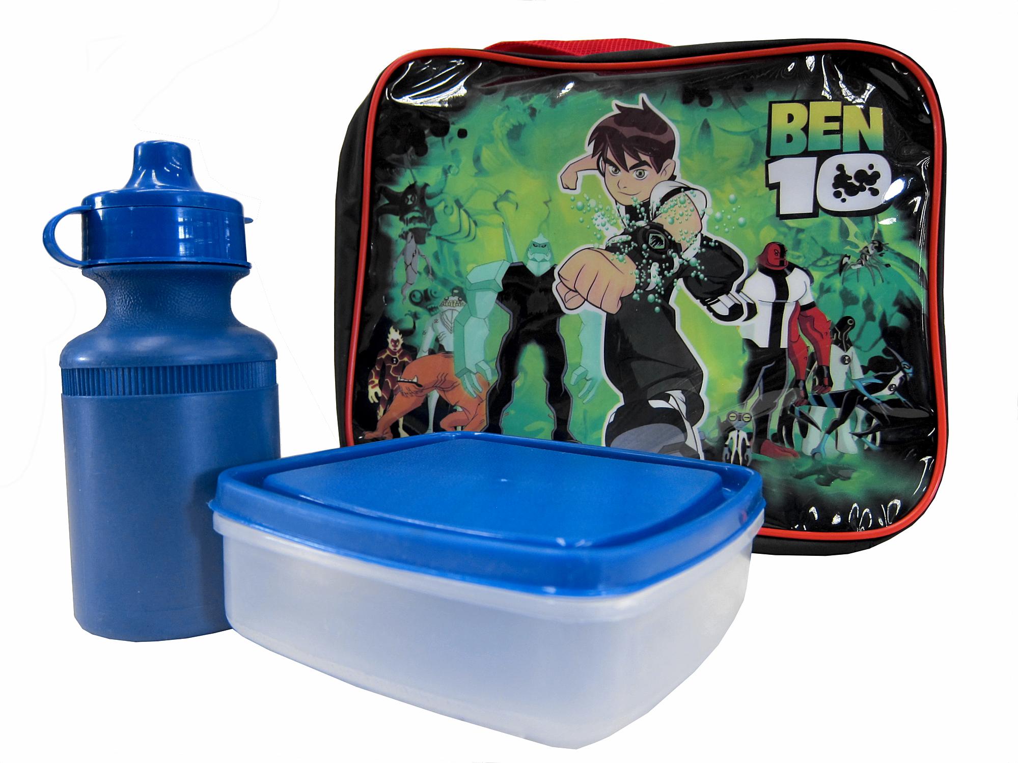 ben 10 blue black school boys lunchbox lunch box bag. Black Bedroom Furniture Sets. Home Design Ideas