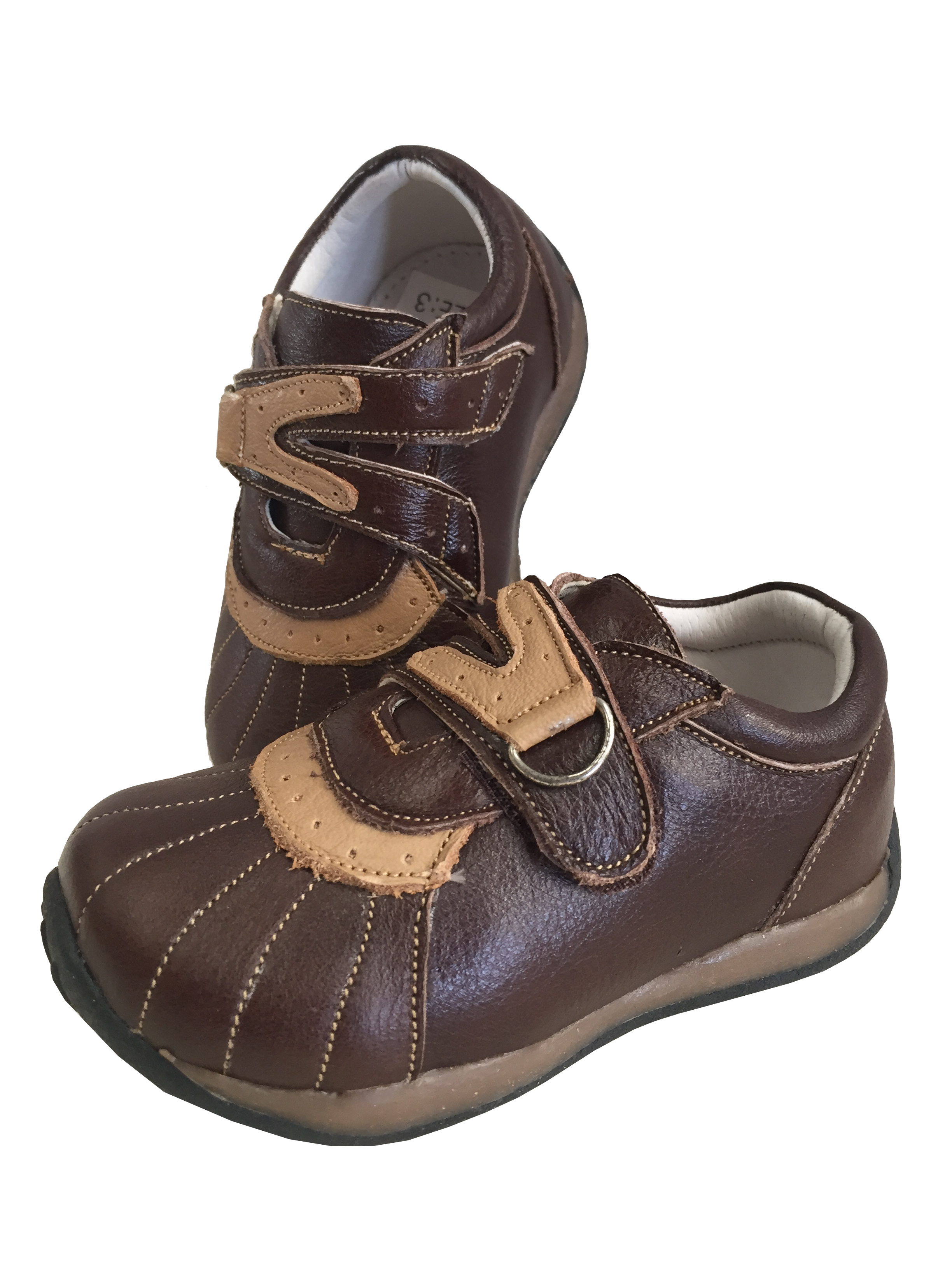 Baby Toddler Leather Shoes Sneakers Trainers 9207 Brown