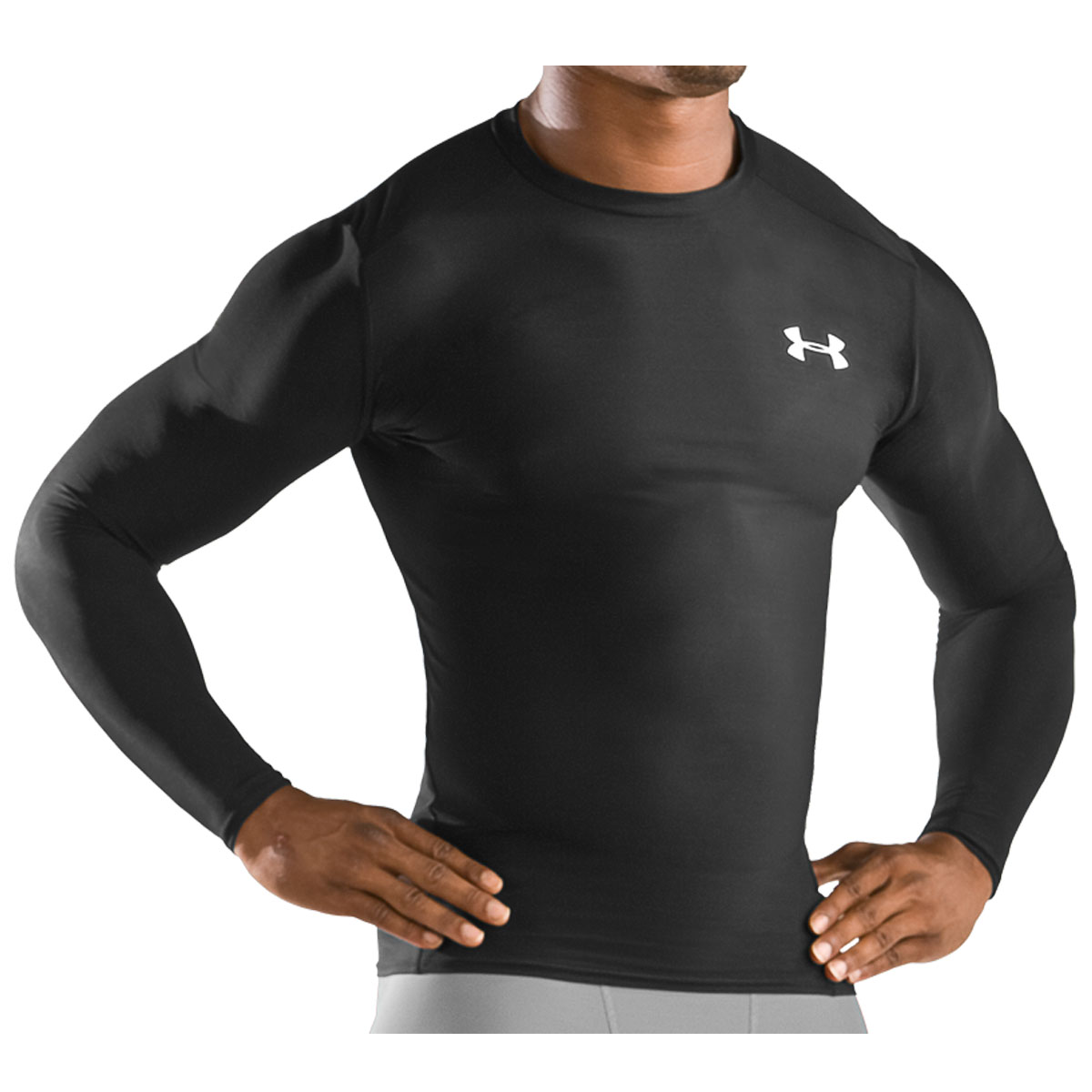 under armour men 39 s heatgear compression longsleeve top ebay. Black Bedroom Furniture Sets. Home Design Ideas